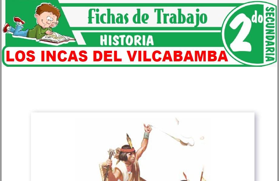 Modelos de la Ficha de Los incas del Vilcabamba para Segundo de Secundaria