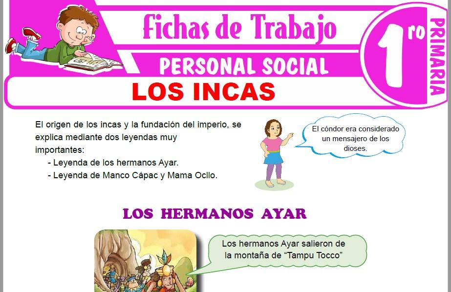 Modelos de la Ficha de Los incas para Primero de Primaria