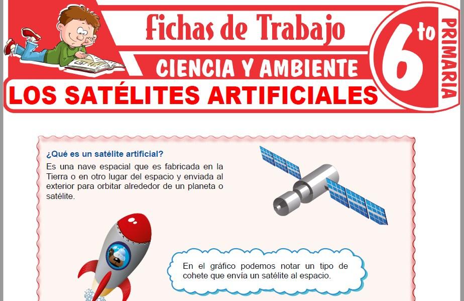 Modelos de la Ficha de Los satélites artificiales para Sexto de Primaria
