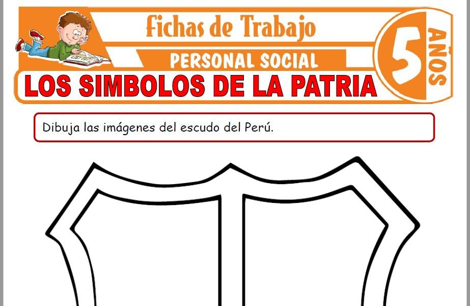 Modelos de la Ficha de Los símbolos de la patria para Niños de Cinco Años