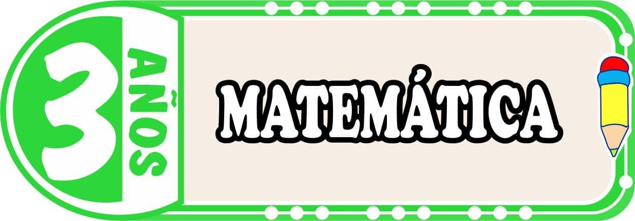 Matemática para Niños de Tres Años