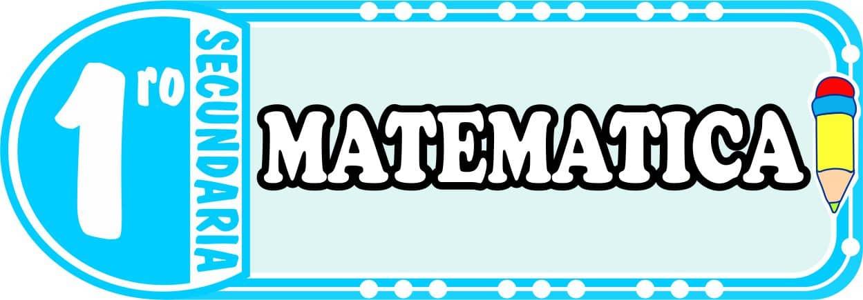 Matematica para Primero de Secundaria Fichas de Trabajo
