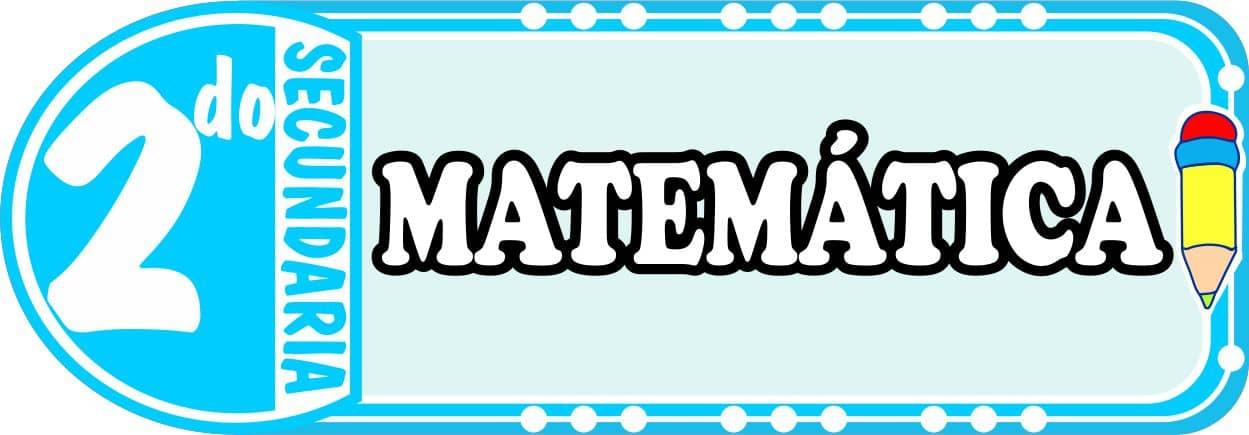 Matematica para Segundo de Secundaria Fichas de Trabajo