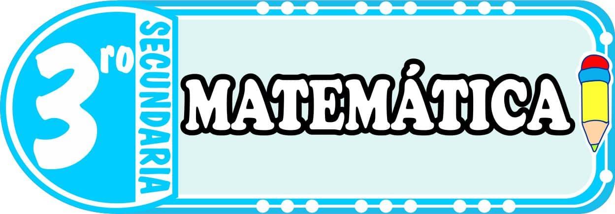 Matematica para Tercero de Secundaria Fichas de Trabajo