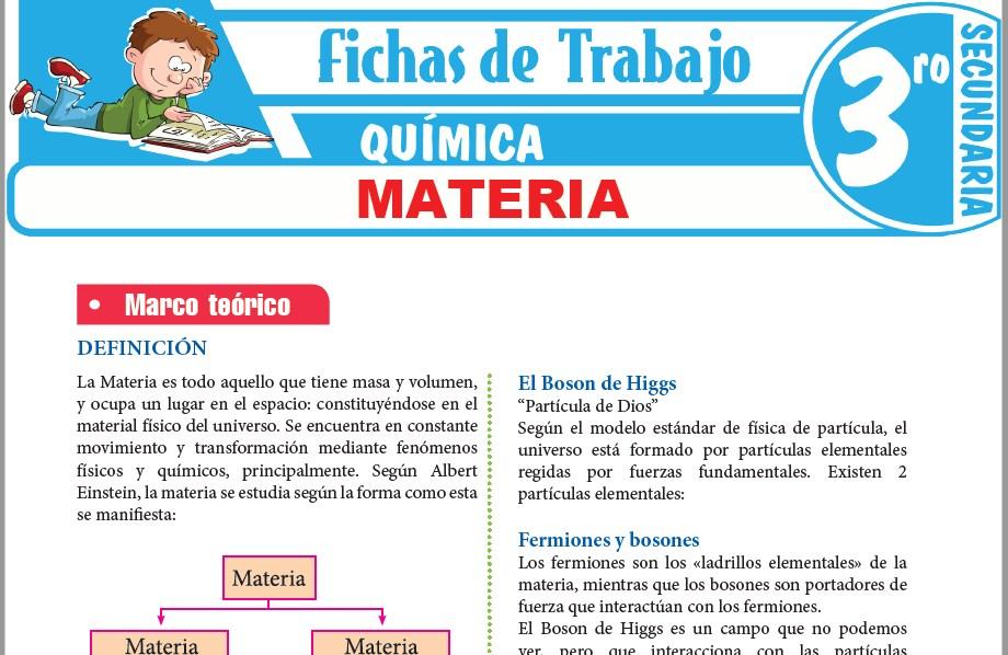 Modelos de la Ficha de Materia para Tercero de Secundaria
