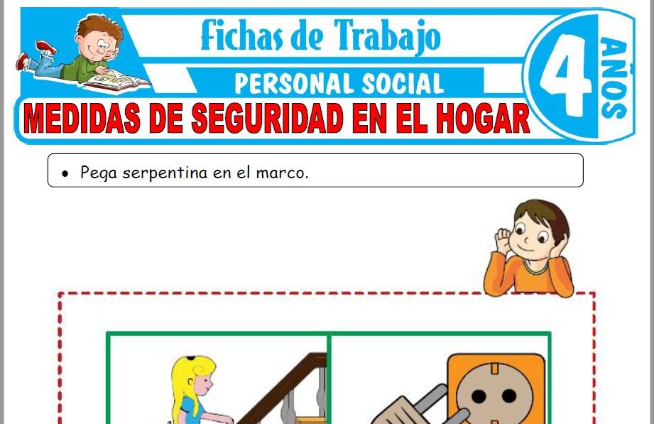 Modelos de la Ficha de Medidas de seguridad en el hogar para Niños de Cuatro Años
