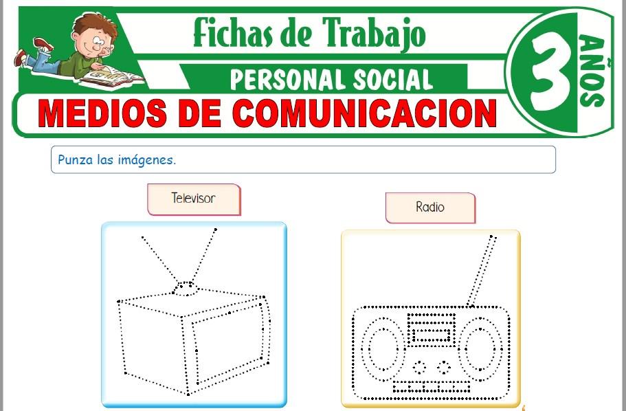 Modelos de la Ficha de Medios de comunicación para Niños de Tres Años