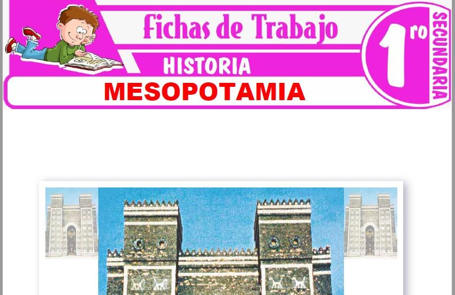 Modelos de la Ficha de Mesopotamia para Primero de Secundaria