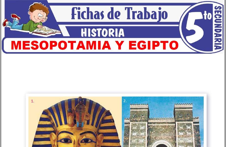 Modelos de la Ficha de Mesopotamia y Egipto para Quinto de Secundaria