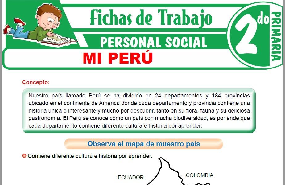 Modelos de la Ficha de Mi Perú para Segundo de Primaria