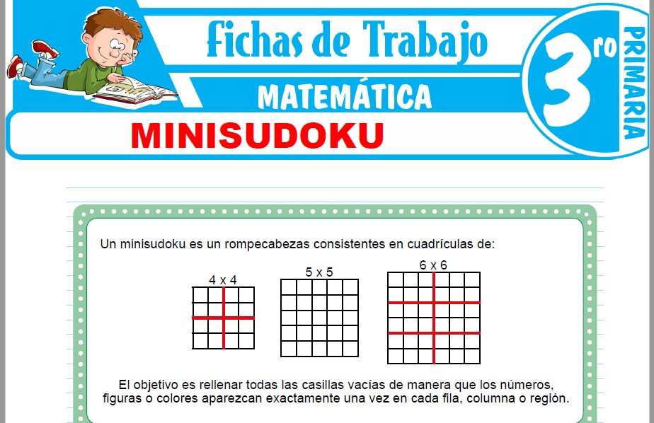 Modelos de la Ficha de Minisudoku para Tercero de Primaria