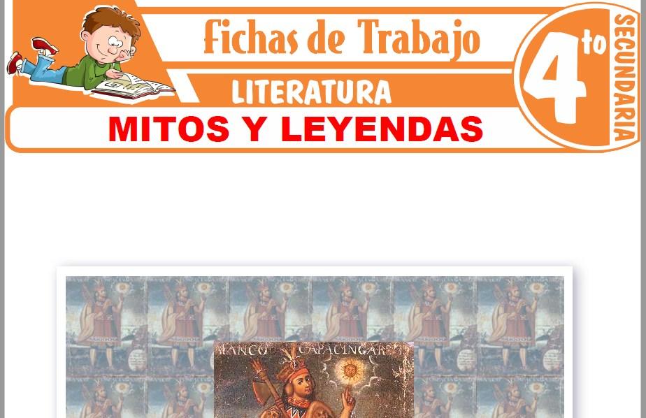 Modelos de la Ficha de Mitos y leyendas para Cuarto de Secundaria
