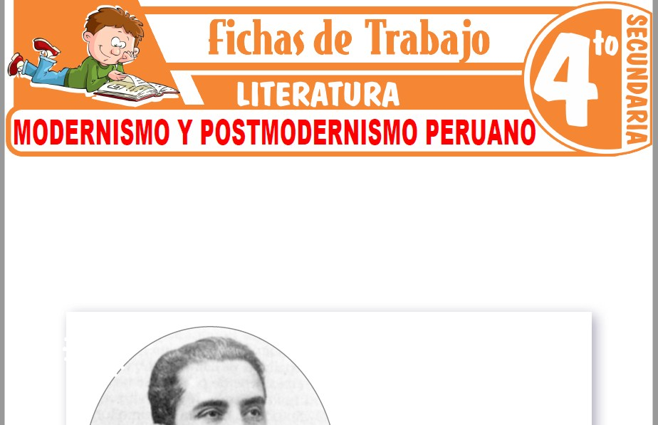 Modelos de la Ficha de Modernismo y Postmodernismo en el Perú para Cuarto de Secundaria