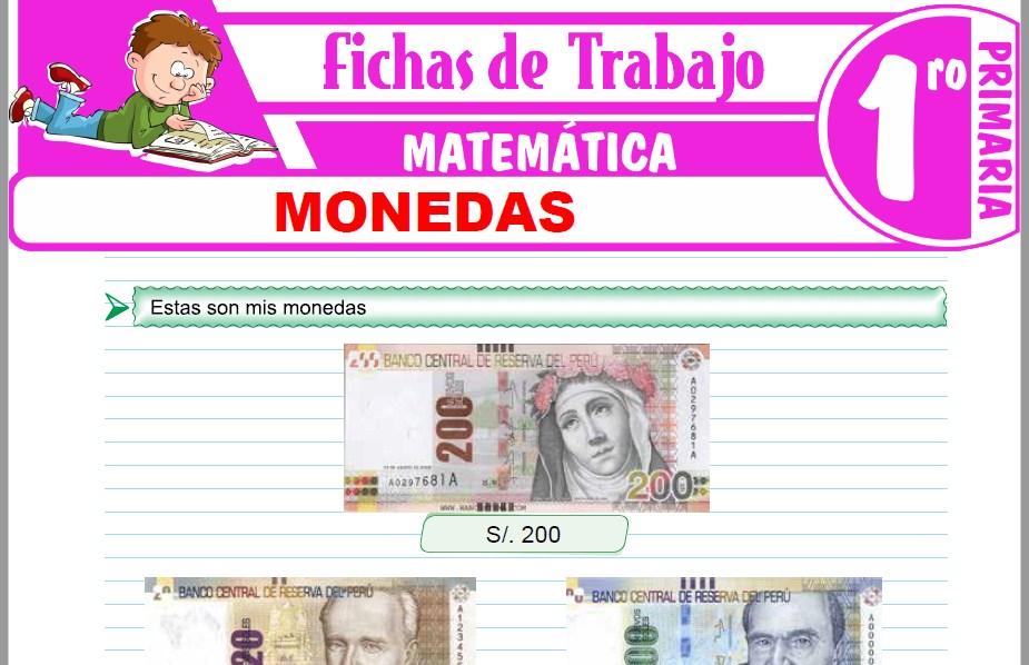 Modelos de la Ficha de Monedas para Primero de Primaria
