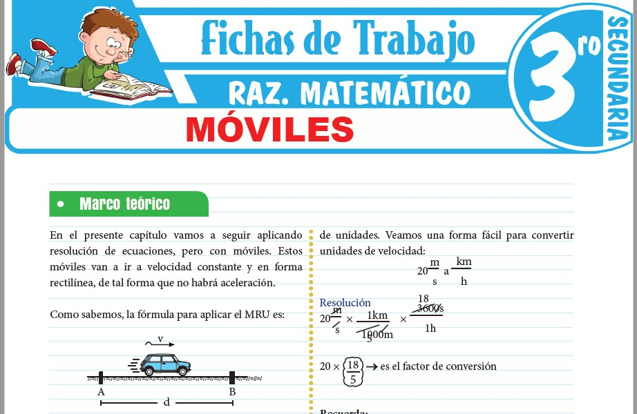 Modelos de la Ficha de Móviles para Tercero de Secundaria