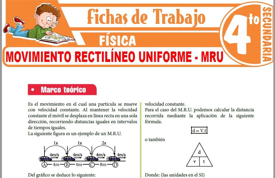 Modelos de la Ficha de Clasificación de las Magnitudes físicas para Cuarto de Secundaria