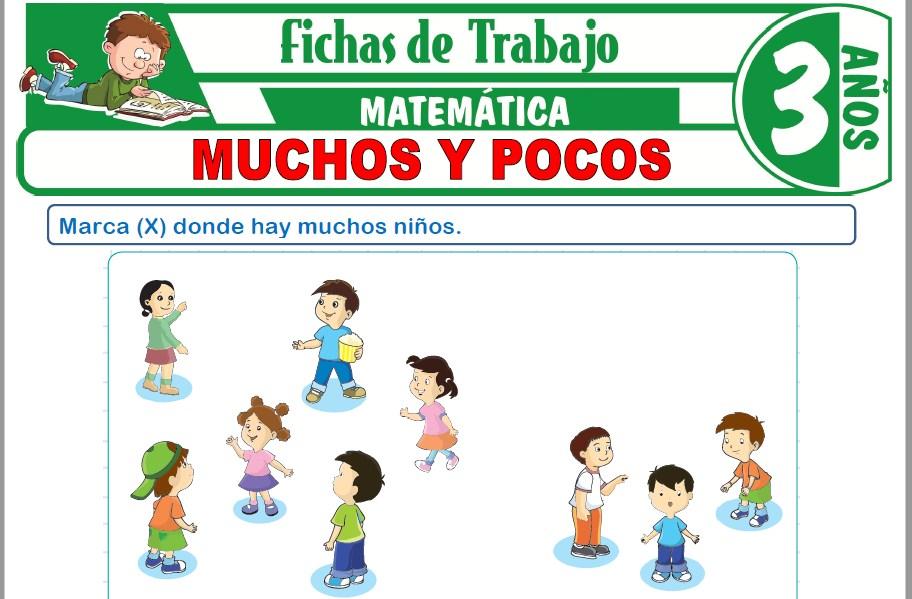 Modelos de la Ficha de Muchos y pocos para Niños de Tres Años