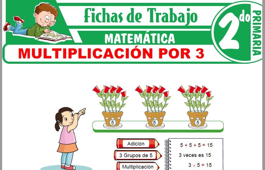 Modelos de la Ficha de Multiplicación por 3 para Segundo de Primaria