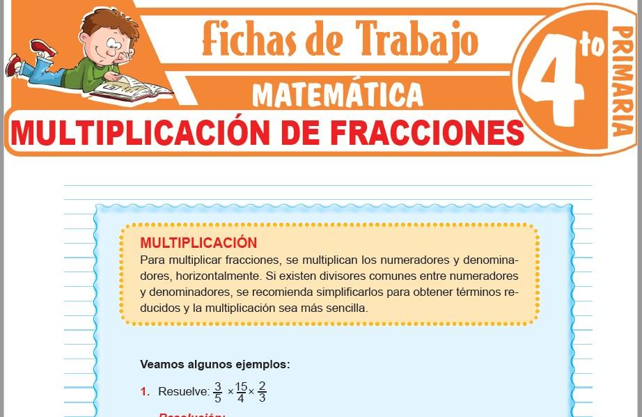 Modelos de la Ficha de Multiplicación de fracciones para Cuarto de Primaria