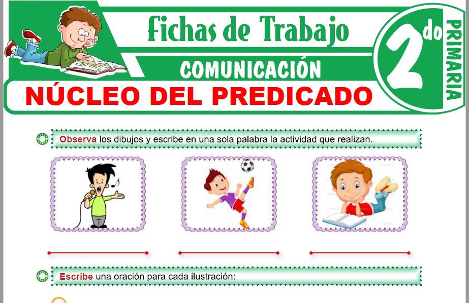 Modelos de la Ficha de Núcleo del predicado para Segundo de Primaria