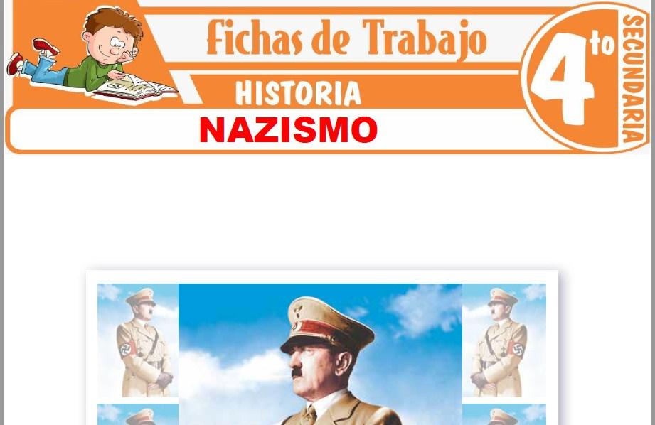 Modelos de la Ficha de Nazismo para Cuarto de Secundaria