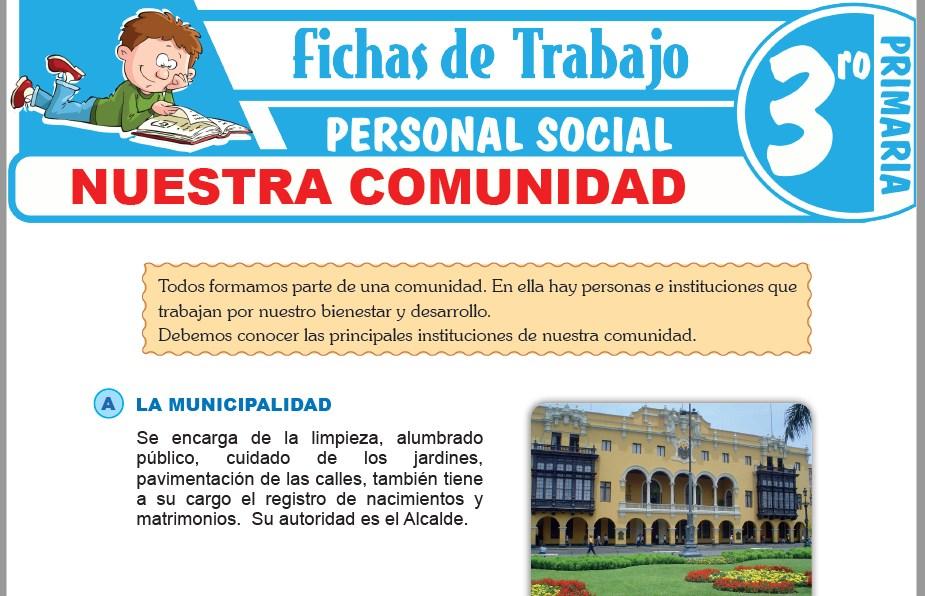 Modelos de la Ficha de Nuestra comunidad para Tercero de Primaria