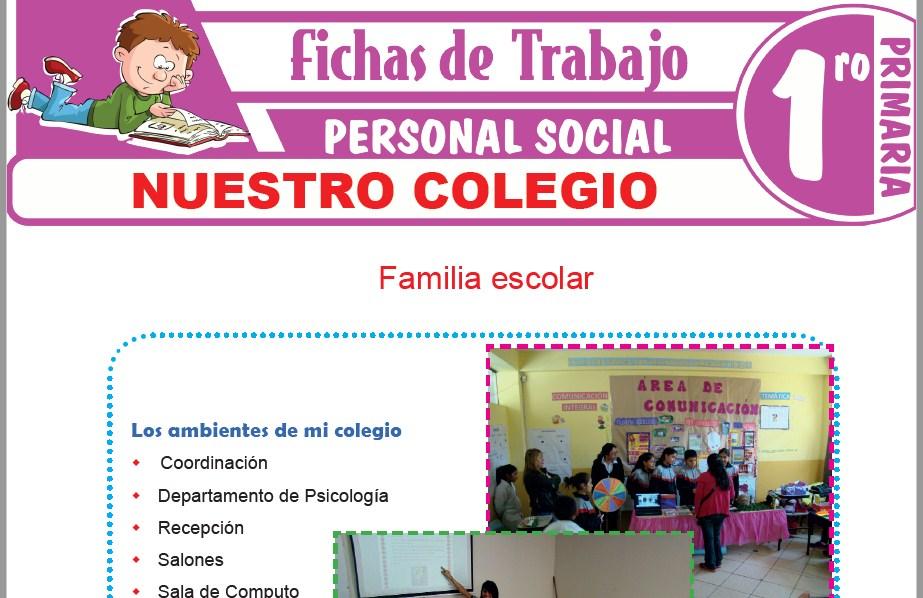 Modelos de la Ficha de Nuestro colegio para Primero de Primaria