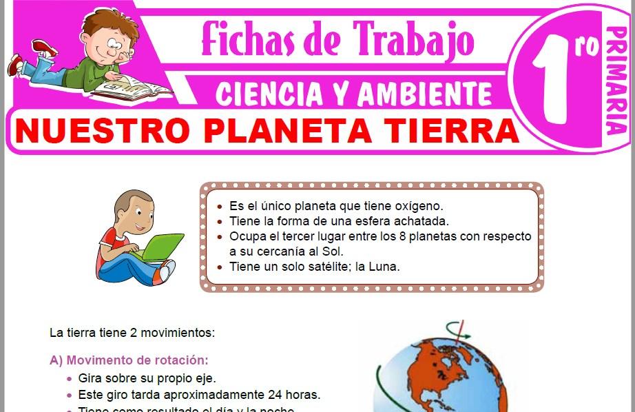 Modelos de la Ficha de Nuestro planeta Tierra para Primero de Primaria