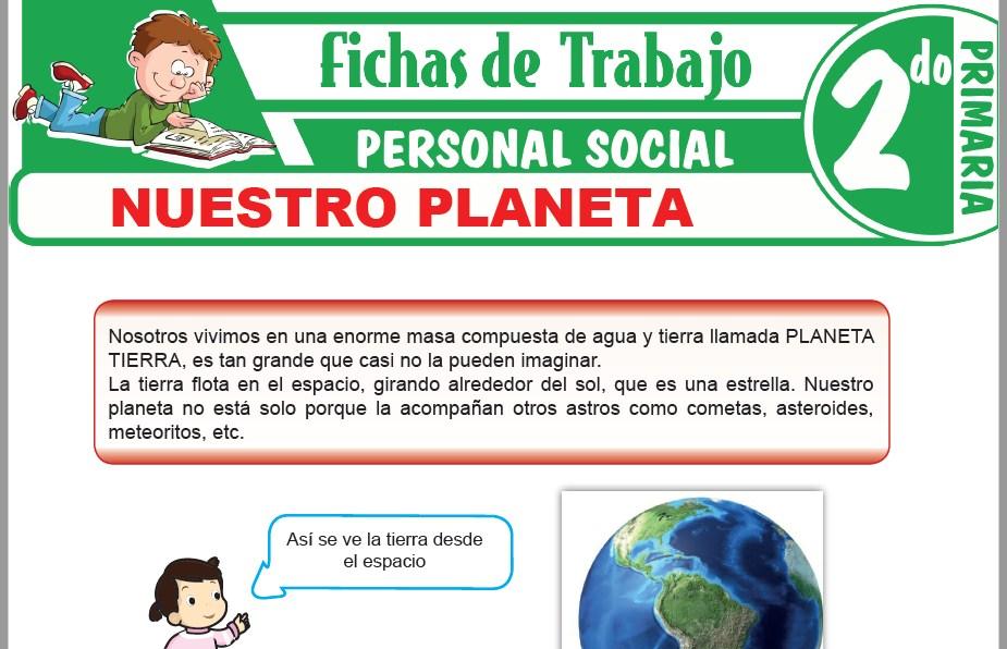 Modelos de la Ficha de Nuestro planeta para Segundo de Primaria