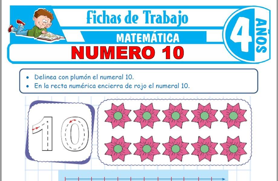 Modelos de la Ficha de Número 10 para Niños de Cuatro Años