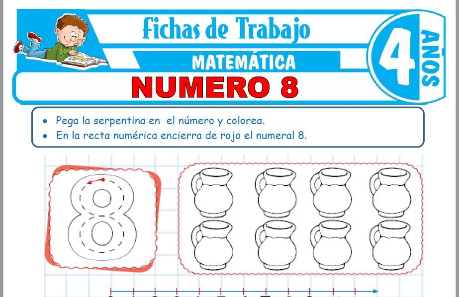 Modelos de la Ficha de Número 8 para Niños de Cuatro Años