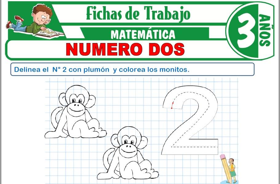 Modelos de la Ficha de Número dos para Niños de Tres Años