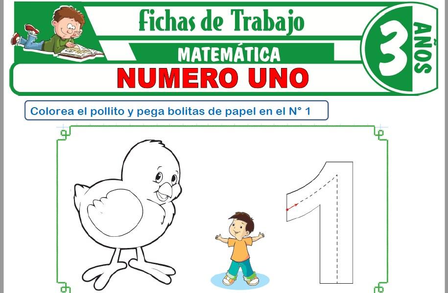 Modelos de la Ficha de Número uno para Niños de Tres Años