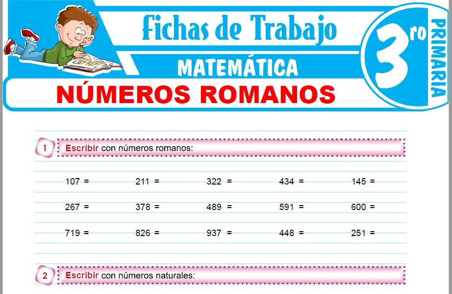 Modelos de la Ficha de Números Romanos para Tercero de Primaria