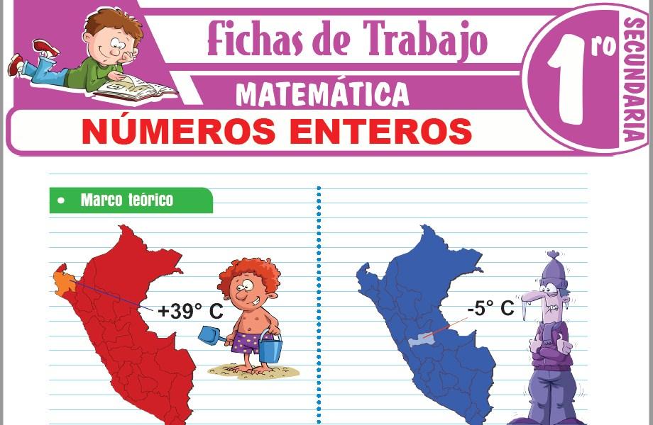 Modelos de la Ficha de Números enteros para Primero de Secundaria
