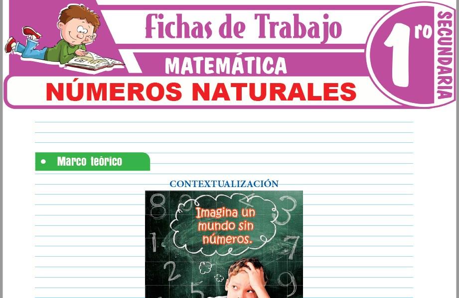 Modelos de la Ficha de Números naturales para Primero de Secundaria