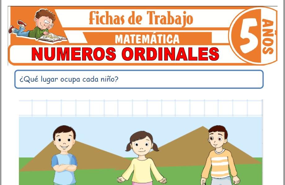 Modelos de la Ficha de Números ordinales para Niños de Cinco Años