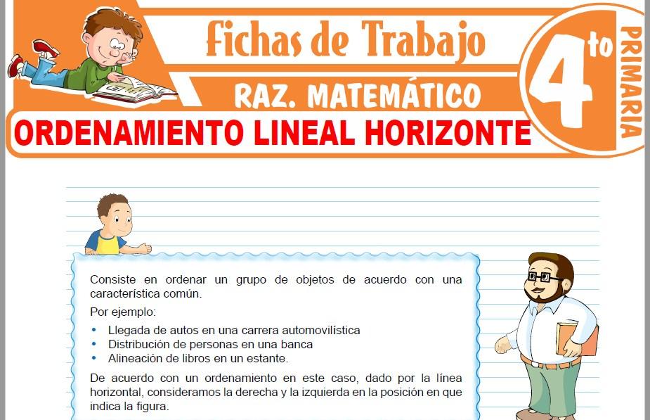 Modelos de la Ficha de Ordenamiento lineal horizonte para Cuarto de Primaria