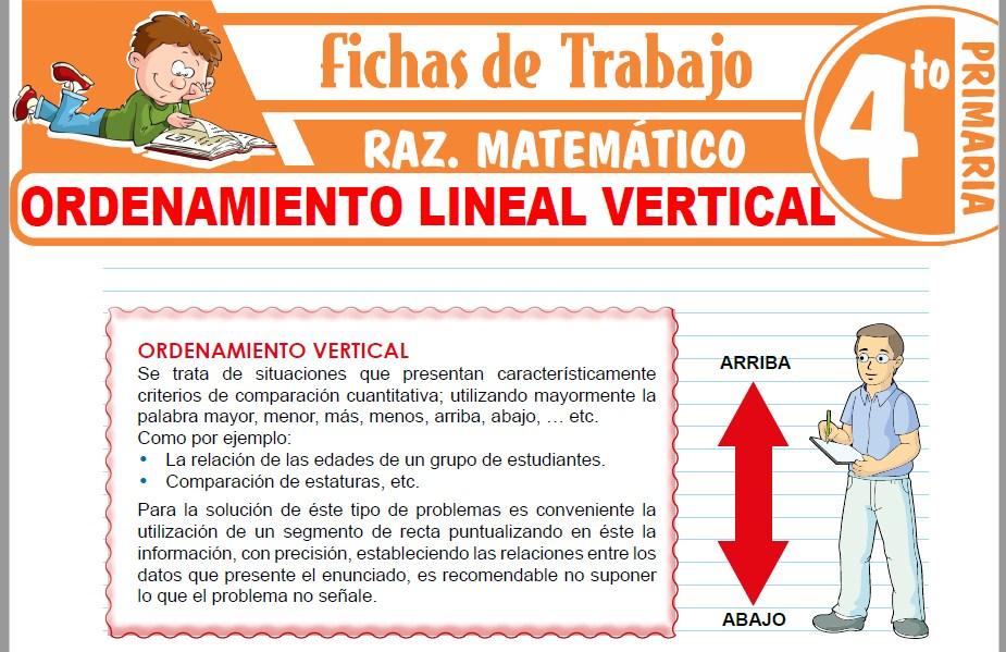Modelos de la Ficha de Ordenamiento lineal vertical para Cuarto de Primaria