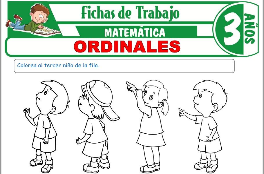Modelos de la Ficha de Ordinales para Niños de Tres Años