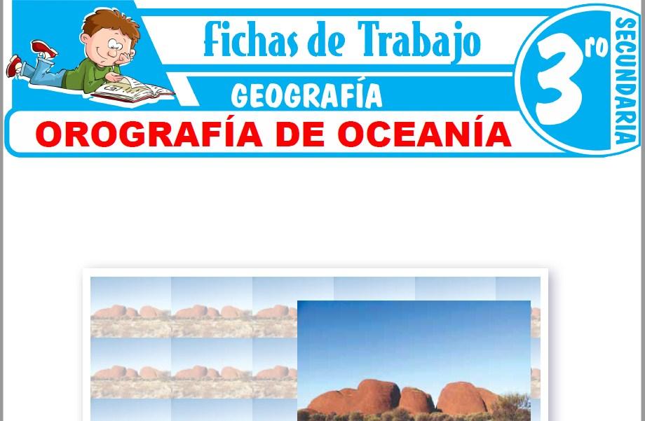 Modelos de la Ficha de Orografía de Oceanía para Tercero de Secundaria