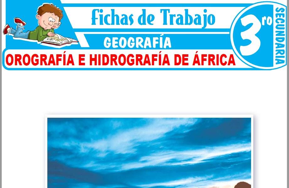 Modelos de la Ficha de Orografía e hidrografía de África para Tercero de Secundaria