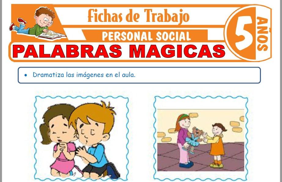 Modelos de la Ficha de Palabras Mágicas para Niños de Cinco Años