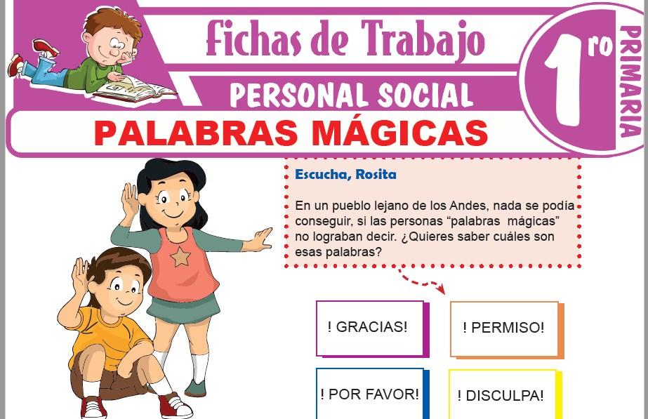 Modelos de la Ficha de Palabras mágicas para Primero de Primaria