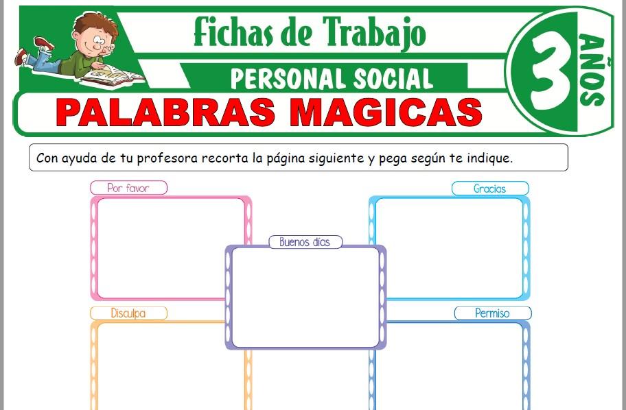 Modelos de la Ficha de Palabras mágicas para Niños de Tres Años