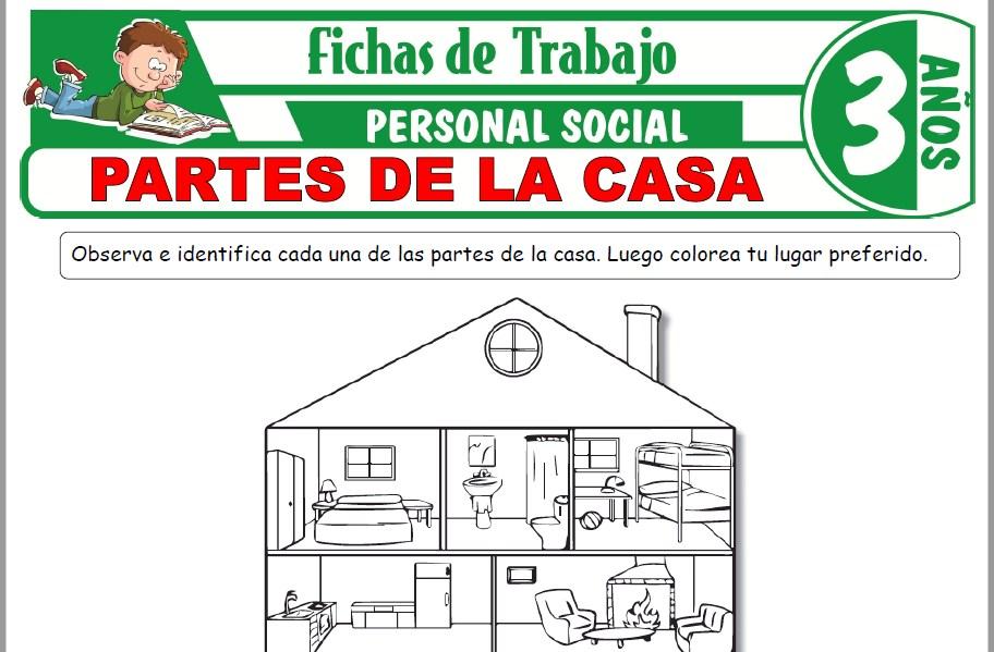 Modelos de la Ficha de Partes de la casa para Niños de Tres Años