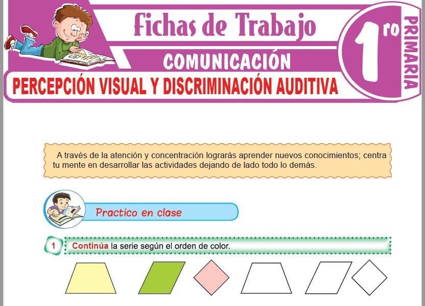 Modelos de la Ficha de Percepción visual y Discriminación auditiva para Primero de Primaria