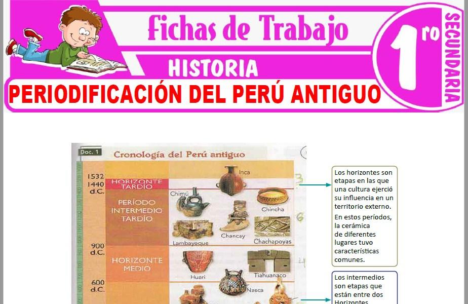 Modelos de la Ficha de Periodificación del Perú antiguo para Primero de Secundaria