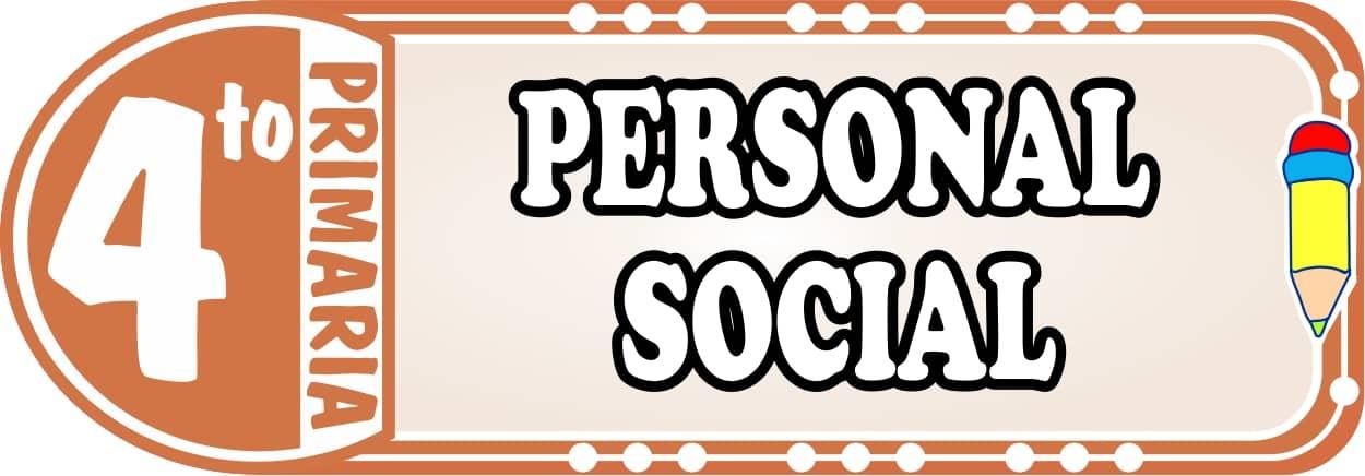 Personal Social para Cuarto de Primaria Fichas de Trabajo