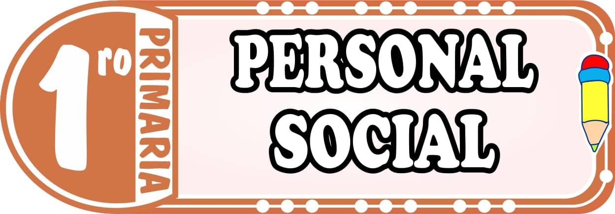Personal Social para Primero de Primaria Fichas de Trabajo